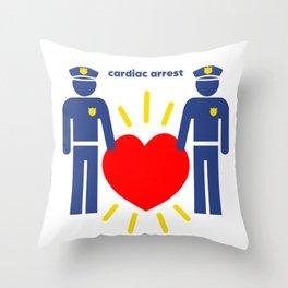 Cardiac Arrest Throw Pillow