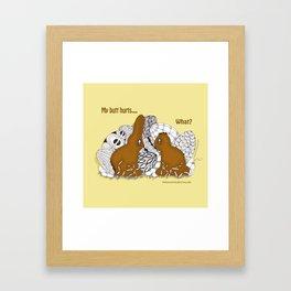 Chocolate Easter Bunny Problems Children Illustrations Framed Art Print