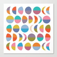 moon phases Canvas Prints featuring Moon phases by Helene Michau