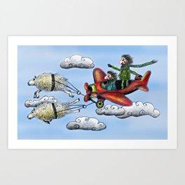 Sky Journey Art Print