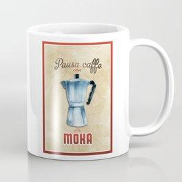 Cafe Poster: Coffee Break with Moka Coffee Mug