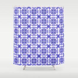 Classic European Blue Tiles Shower Curtain