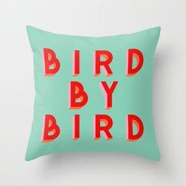 Bird By Bird Throw Pillow