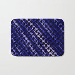 Blue Swirly Pattern with Creases Bath Mat