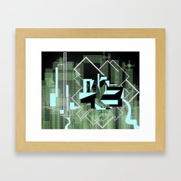 FUTURE FORMS OF EARTH (an adventure in living-architecture) Framed Art Print