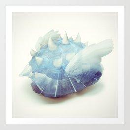 Blue Shell - Kart Art Art Print
