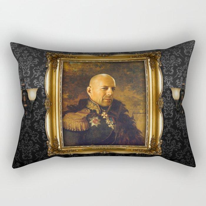 Bruce Willis - replaceface Rectangular Pillow