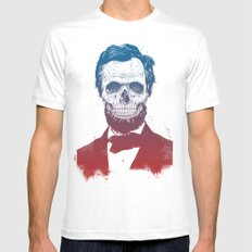Dead Lincoln 2X-LARGE White Mens Fitted Tee
