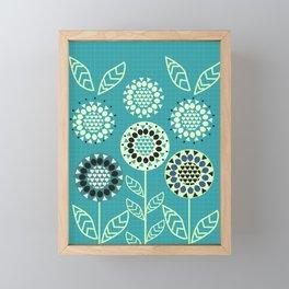 Floral romance Framed Mini Art Print