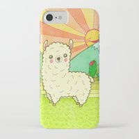 alpaca iPhone & iPod Cases featuring Alpaca by My Zoetrope