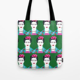 Flowers and Frida Tote Bag