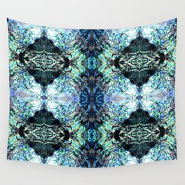 Paua Shell  Inspired Pattern Wall Tapestry