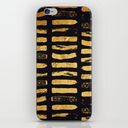 Gold Foil Paint Brush #3 iPhone Skin