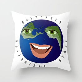 voluntary human extinction: part i Throw Pillow