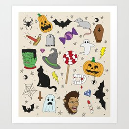 Halloween part 2 Kunstdrucke