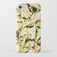 gold foil iPhone & iPod Cases featuring Gold foil by lamottedesign