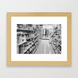 konbini selfie Framed Art Print
