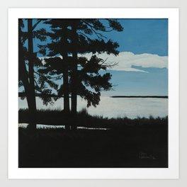 SHADOW BY THE LAKE Art Print