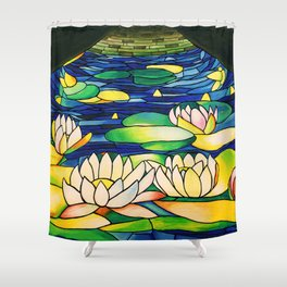 River of Lotus Blossoms Shower Curtain