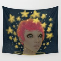 astronaut Wall Tapestries featuring Astronaut by Edge