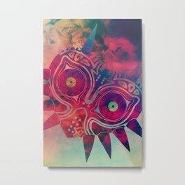 Watercolored Majora's Mask Metal Print