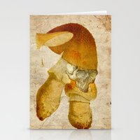 mortal instruments Stationery Cards featuring Mortal mushroom by Joe Ganech