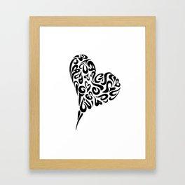 Heart blk Framed Art Print