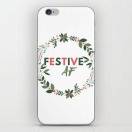 Festive AF iPhone Skin