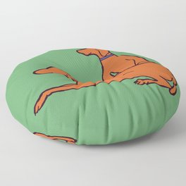 Vizslas on Green Floor Pillow