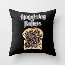 Hagelslag Of Bullets Throw Pillow