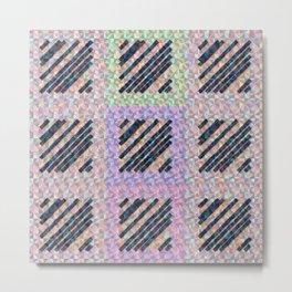 Holographic pink pattern Metal Print