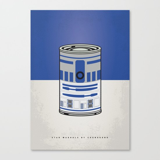 MY STAR WARHOLS R2D2 MINIMAL CAN POSTER Canvas Print