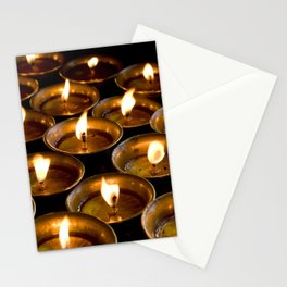 Tibetan Buddhist Oil Butter Lamps Stationery Cards
