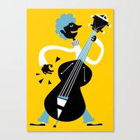 bass Canvas Prints featuring Bass by Arthur Porto