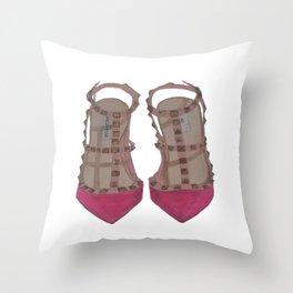 Rockstud Shoes Throw Pillow