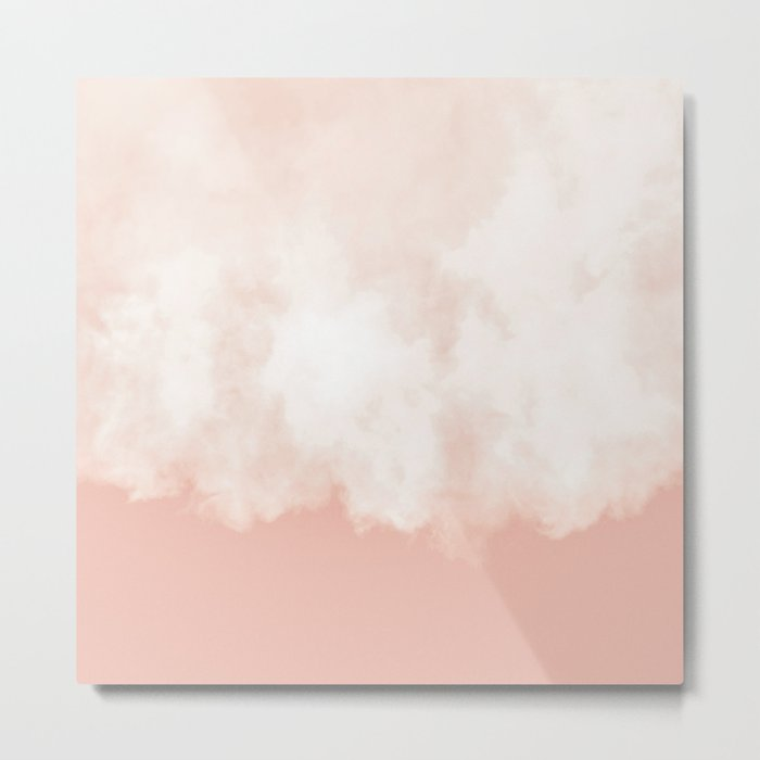 Cotton candy in beige pink Metal Print