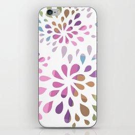 Colourful drops iPhone Skin