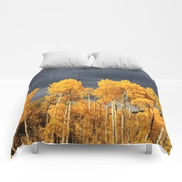 Golden Aspens and an Impending Storm Comforters