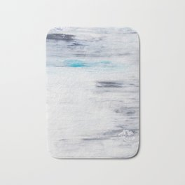 Silver Leaf Frozen with Teal Bath Mat