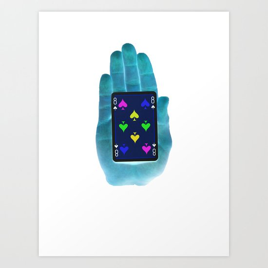 Hand Of Cards Art Print