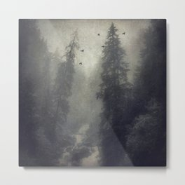 Soft Forest Metal Print