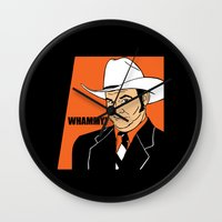 will ferrell Wall Clocks featuring Whammy! - Champ Kind by Buby87