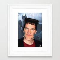 tarantino Framed Art Prints featuring Quentin Tarantino by Giampaolo Casarini