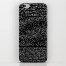 Pierre de Rosette  / Rosetta Stone iPhone Skin