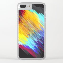 Streaky color patch Clear iPhone Case