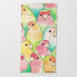 Bird no. 317: Candy Birds Beach Towel