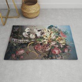 Flower skull Rug
