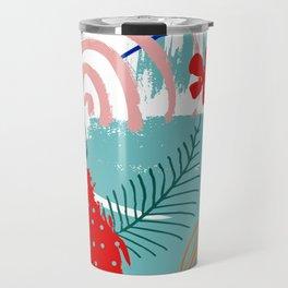 Spring Festival, Botanical, Floral Abstract Travel Mug
