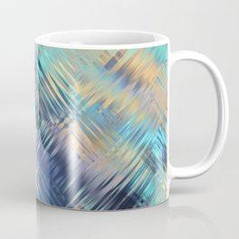 Modern Abstract Light Reflective, Teal, Purple, Gold, Glass, Optical Illusion Coffee Mug