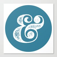 ampersand Canvas Prints featuring Ampersand by AndyGD